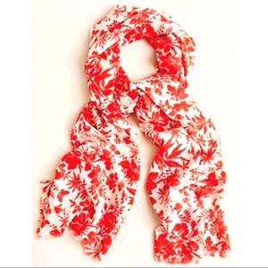 J. Crew floral print scarf